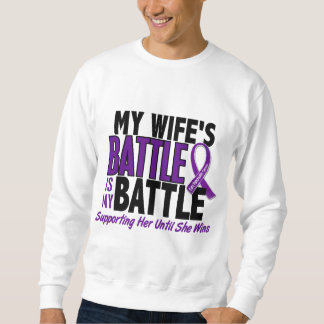 My Battle Too Wife Pancreatic Cancer Sweatshirt