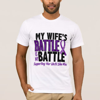 My Battle Too Wife Pancreatic Cancer T-Shirt