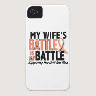 My Battle Too Wife Uterine Cancer iPhone 4 Case