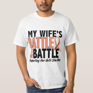My Battle Too Wife Uterine Cancer T-Shirt