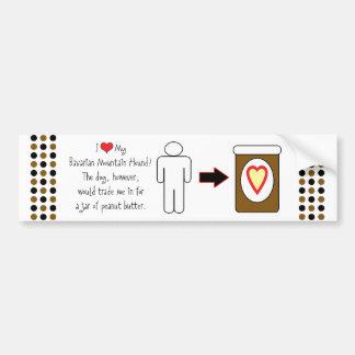 My Bavarian Mountain Hound Loves Peanut Butter Bumper Sticker