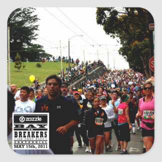 My Bay to Breakers Photo Square Sticker