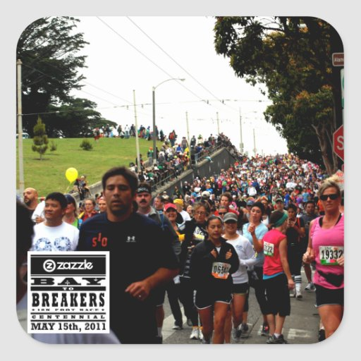 My Bay to Breakers Photo Square Stickers