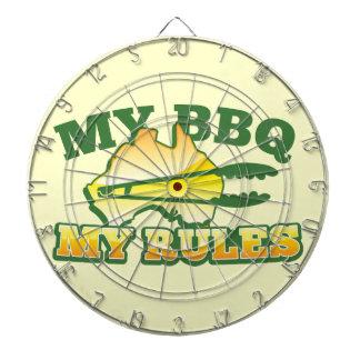 MY BBQ MY RULES aussie design Dartboards