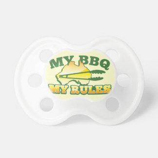 MY BBQ MY RULES aussie design Pacifier