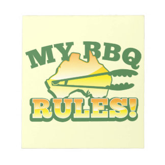 My BBQ RULES! barbecue Australian design Notepad