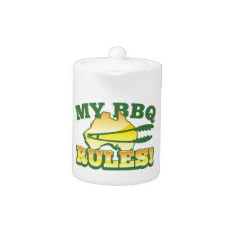 My BBQ RULES! barbecue Australian design Teapot