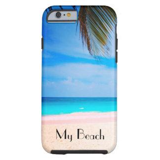 My Beach, Tropical Beach View Tough iPhone 6 Case