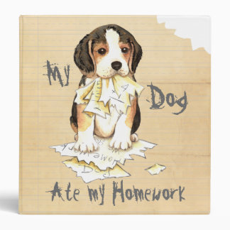 My Beagle Ate My Homework 3 Ring Binder