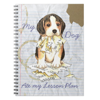 My Beagle Ate My Lesson Plan Spiral Note Book