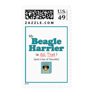 My Beagle Harrier is All That! Postage Stamps