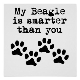 My Beagle Is Smarter Than You Poster