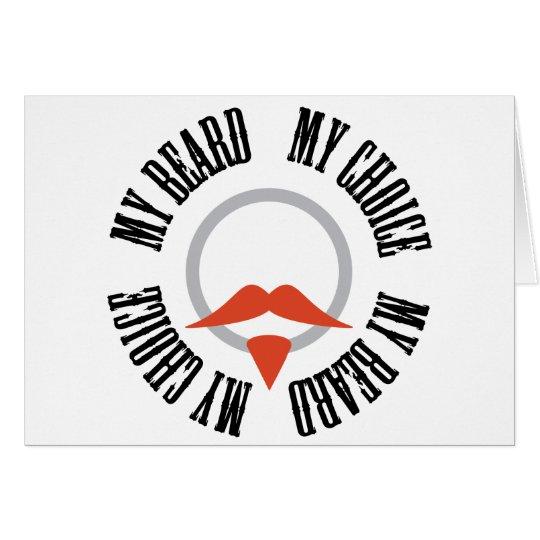 My Beard, My Choice - Red Goatee Card