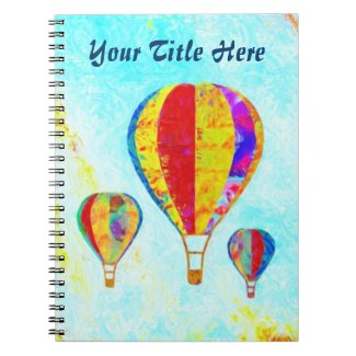 My Beautiful Balloons spiral notebook