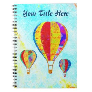 My Beautiful Balloons spiral notebook