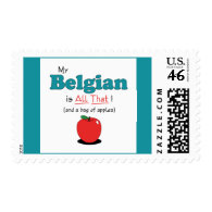 My Belgian is All That! Funny Horse Postage Stamps