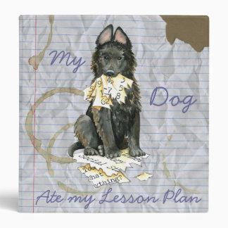 My Belgian Sheepdog Ate My Lesson Plan 3 Ring Binder