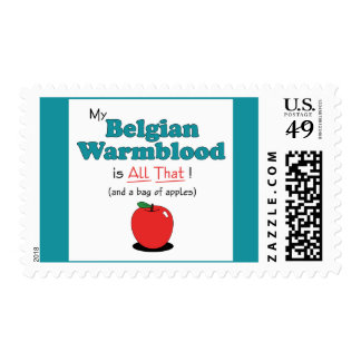 My Belgian Warmblood is All That! Funny Horse Postage