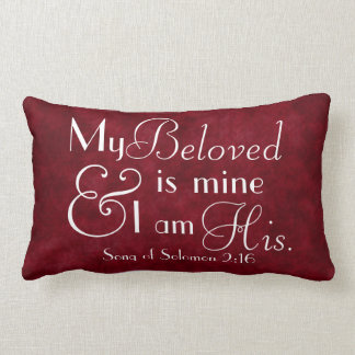 My Beloved is mine and I am his bible verse Throw Pillow