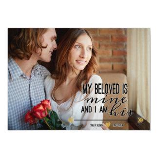 My Beloved is Mine, Scripture Engagement Photo Card