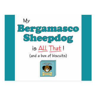 My Bergamasco Sheepdog is All That Post Cards