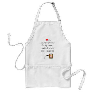My Bergamasco Sheepdog Loves Peanut Butter Adult Apron