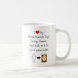 My Bernese Mountain Dog Loves Peanut Butter Coffee Mug