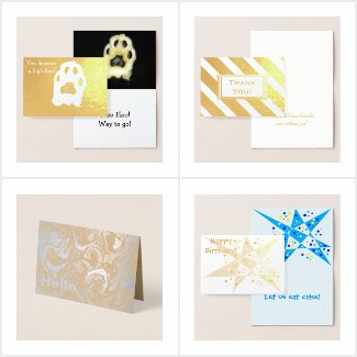 My Best Foil Greeting Cards