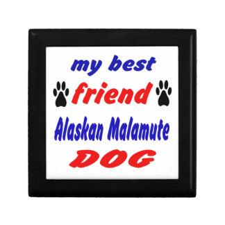 My best friend Alaskan Malamute Dog Gift Box
