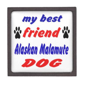 My best friend Alaskan Malamute Dog Premium Jewelry Box