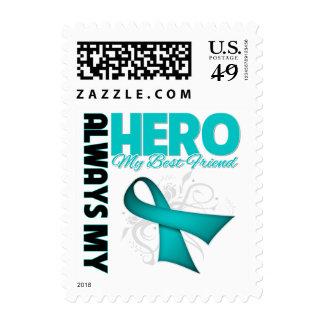 My Best Friend Always My Hero - Ovarian Cancer Postage Stamps