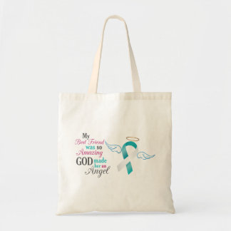 My Best Friend an Angel – Cervical Cancer Tote Bag