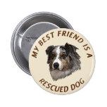 My Best Friend (Australian Shepherd) 2 Inch Round Button