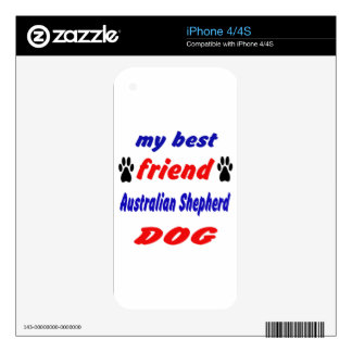 My best friend Australian Shepherd Dog Decal For The iPhone 4S
