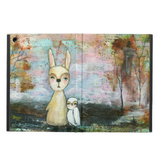 My Best Friend, Baby Rabbit, Baby Owl Abstract Art Case For iPad Air