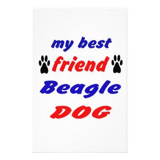 My best friend Beagle Dog Stationery Paper