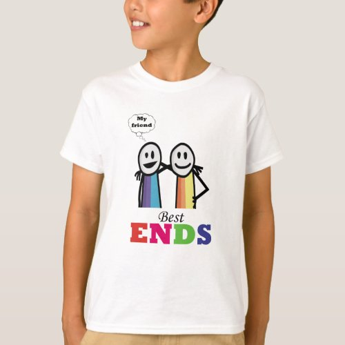 My best friend cool colourful together T_Shirt