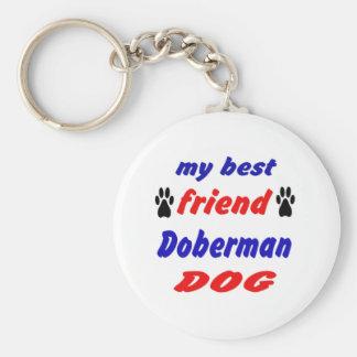 My best friend Doberman Dog Basic Round Button Keychain