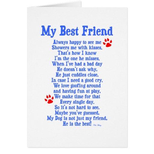 My Best Friend Dog Greeting Card   Zazzle