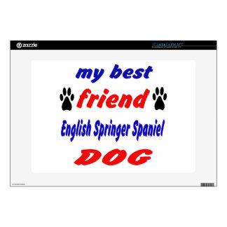 My best friend English Springer Spaniel Dog Decals For Laptops
