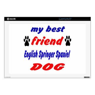 "My best friend English Springer Spaniel Dog Skin For 17"" Laptop"
