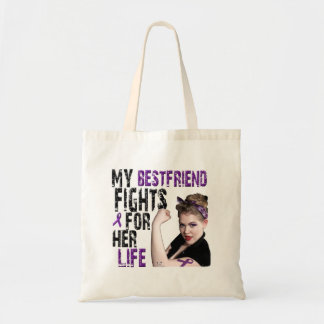 My Best Friend Fights For Her Life Tote Bag