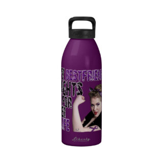 My Best Friend Fights For Her Life Water Bottle-
