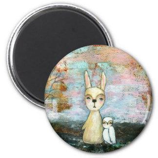 My Best Friend From Original Art Painting 2 Inch Round Magnet
