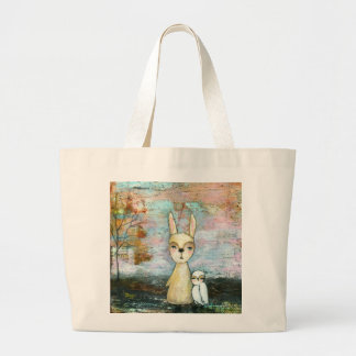 My Best Friend From Original Art Painting Large Tote Bag