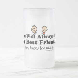 My Best Friend Frosted Glass Beer Mug