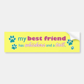 My Best Friend has Whiskers and a Tail Car Bumper Sticker