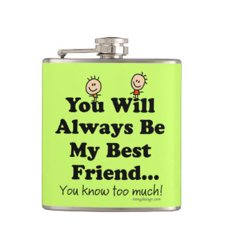 My Best Friend Hip Flask