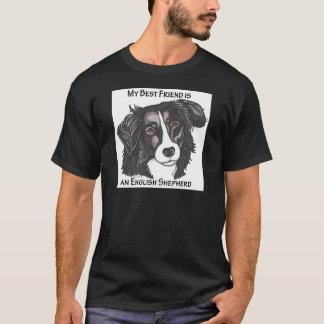My best friend is a Black & White English Shepherd T-Shirt