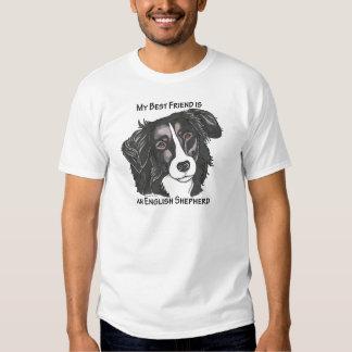 My best friend is a Black & White English Shepherd Tee Shirt